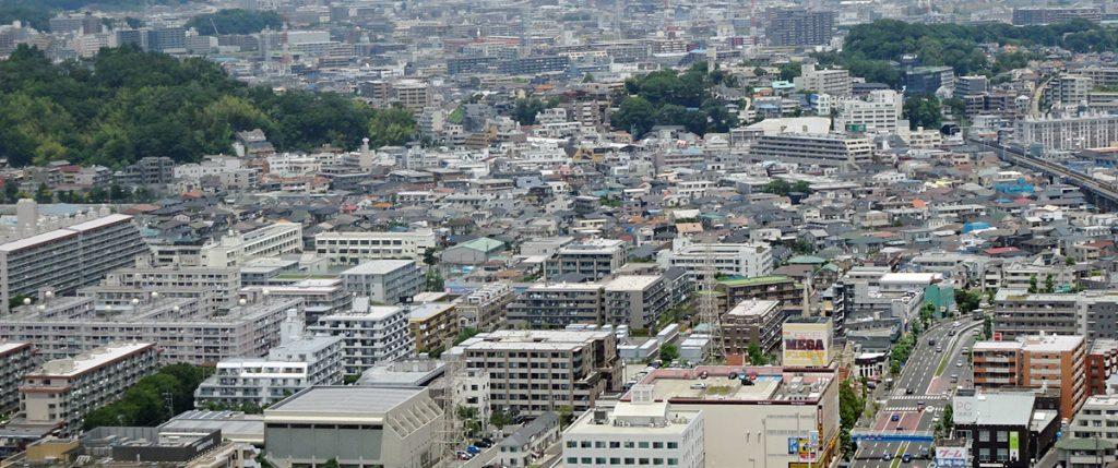 大豆戸町付近の風景