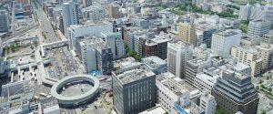 新横浜の街並み