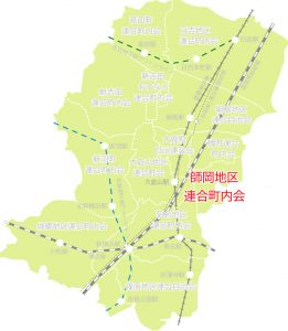 師岡地区の位置