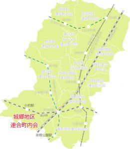城郷地区の位置図