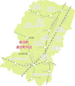 新羽地区の位置図